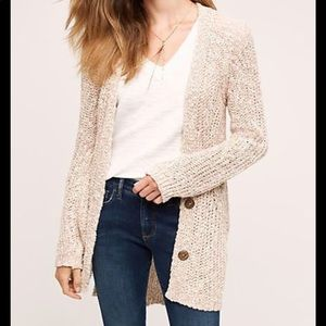 Anthropologie Angel of the North Long Cardigan